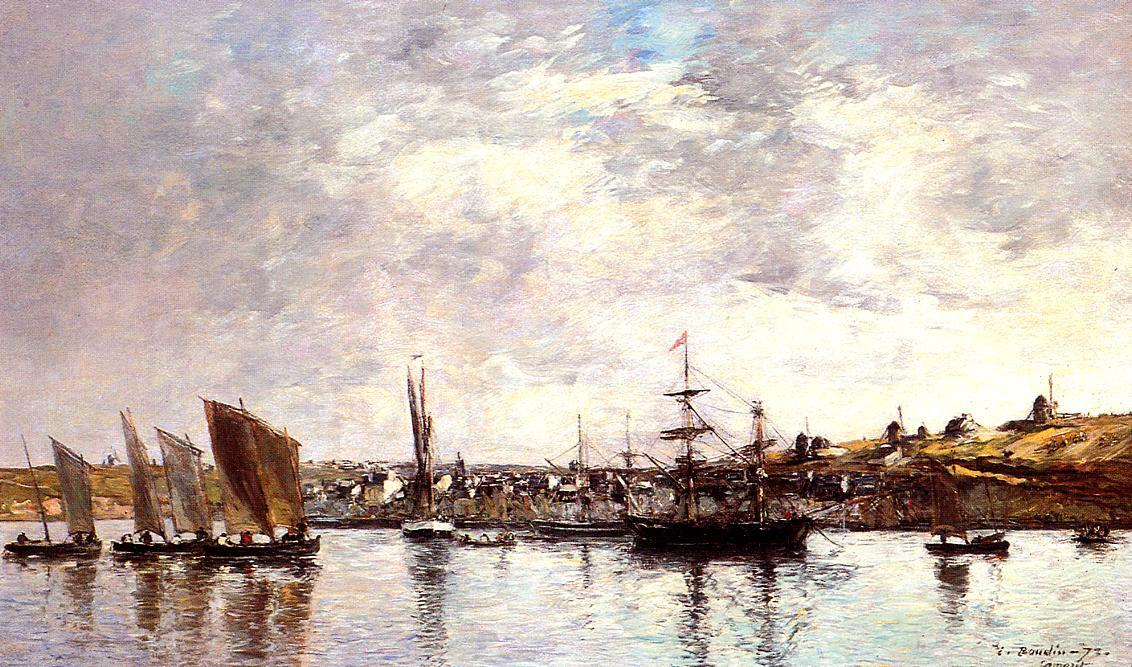 famous painting Camaret, the Port of Eugène Louis Boudin