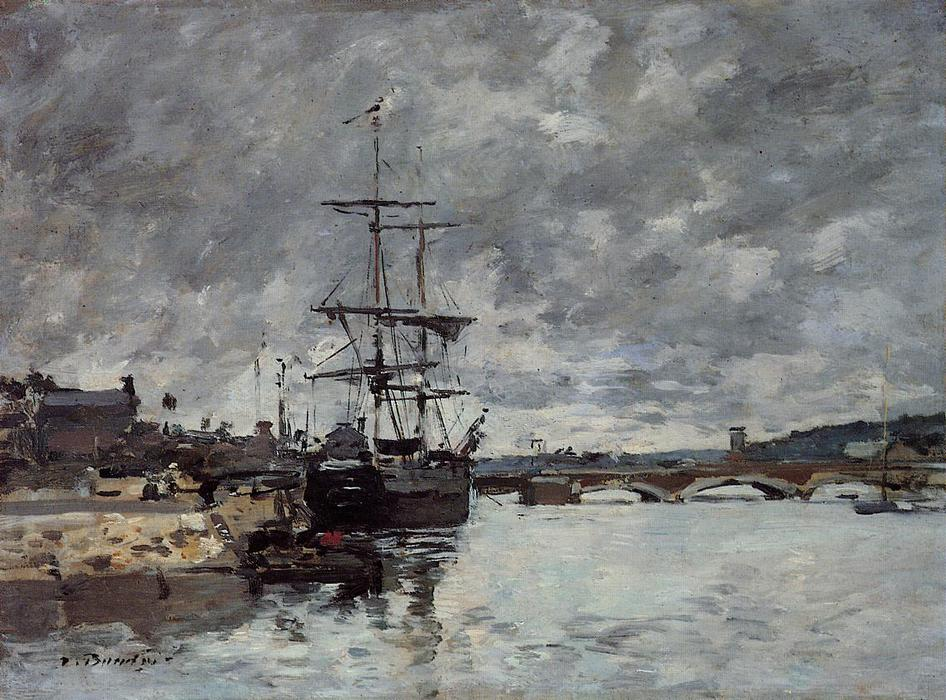 famous painting The Bridge over the Toques at Trouville of Eugène Louis Boudin