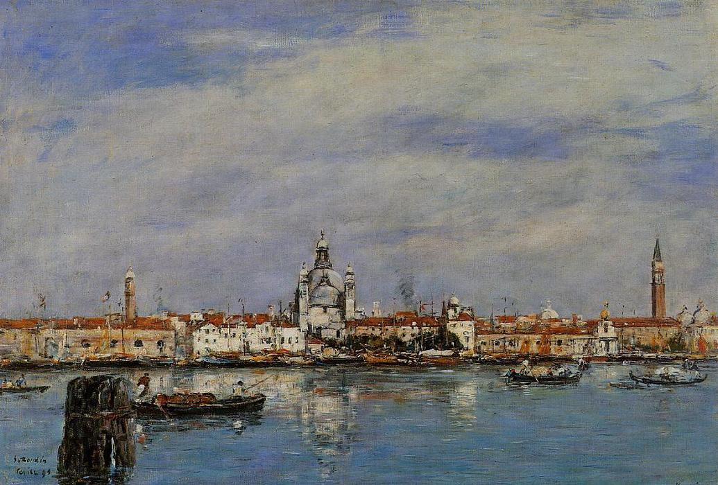 famous painting The Giudecca from The Zatteri, Venice of Eugène Louis Boudin