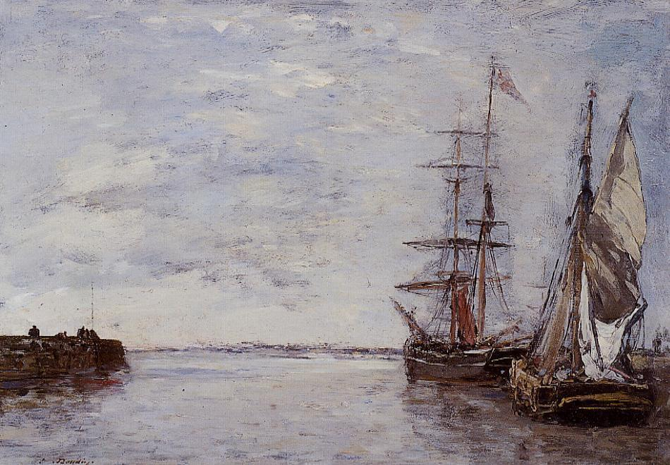 famous painting The Port at Deauville of Eugène Louis Boudin