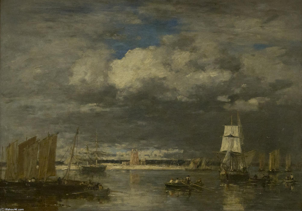 famous painting Untitled of Eugène Louis Boudin