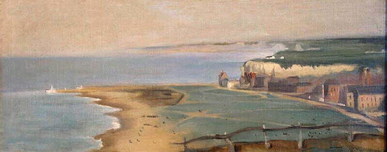famous painting Dieppe Beach View From The Cliff West of Eva Gonzales
