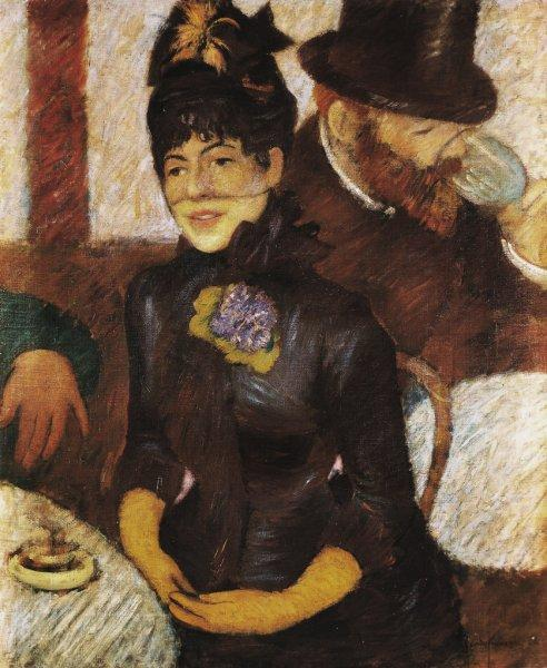 famous painting The cafe of Federico Zandomeneghi
