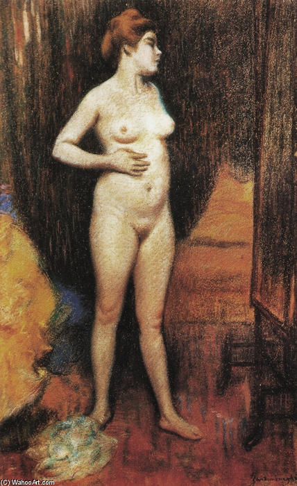 famous painting Naked woman in the mirror of Federico Zandomeneghi