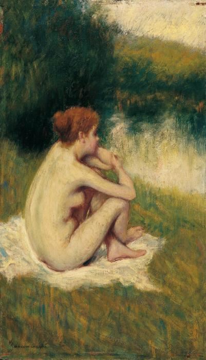 famous painting After Bath of Federico Zandomeneghi