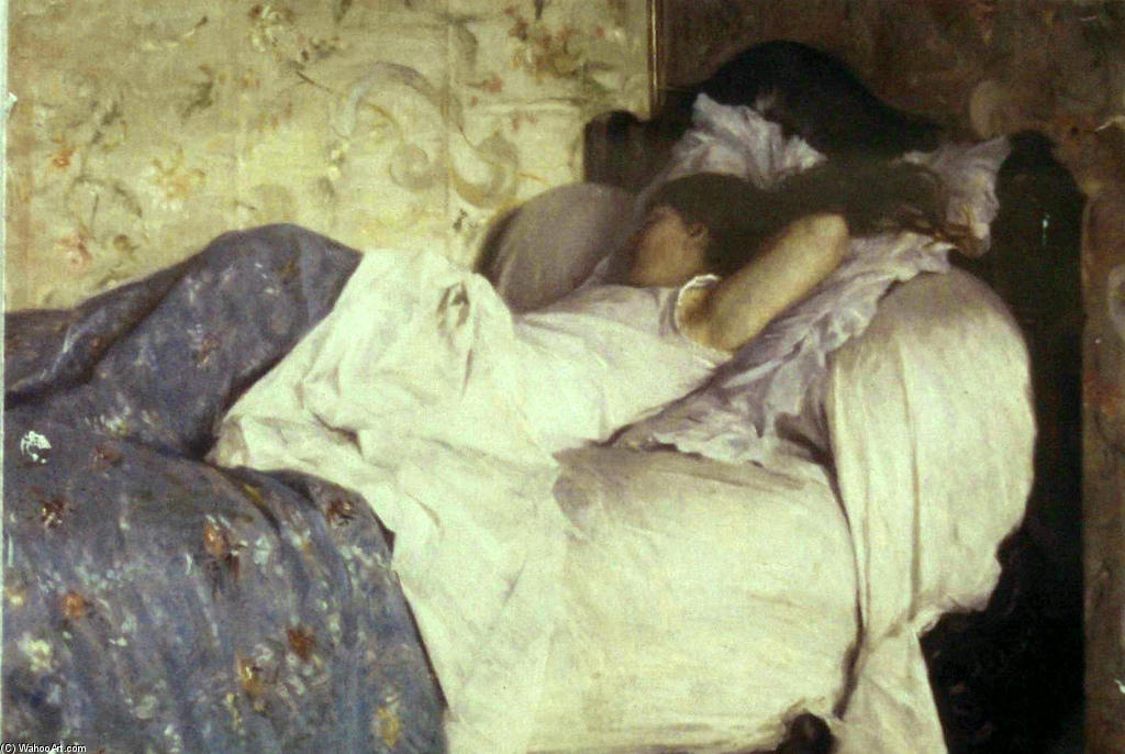 famous painting In Bed of Federico Zandomeneghi