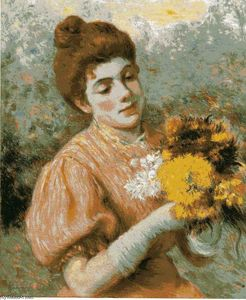 Federico Zandomeneghi - Woman with bouquet