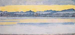 Ferdinand Hodler - Lake Geneva with Mont Blanc at dawn