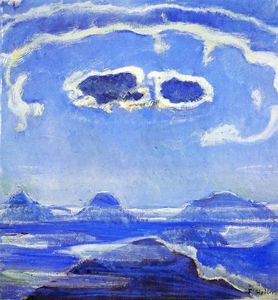Ferdinand Hodler - Eiger, Monch and Jungfrau in Moonlight