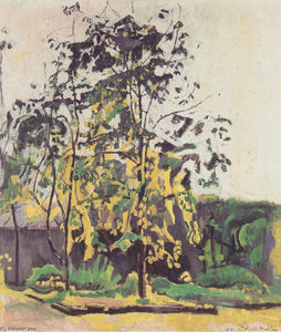 Ferdinand Hodler - Tree in the workshop garden