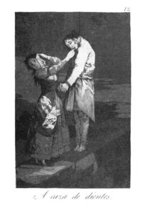 Francisco De Goya - Out hunting for teeth