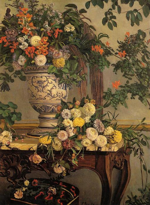 famous painting Flowers of Jean Frederic Bazille