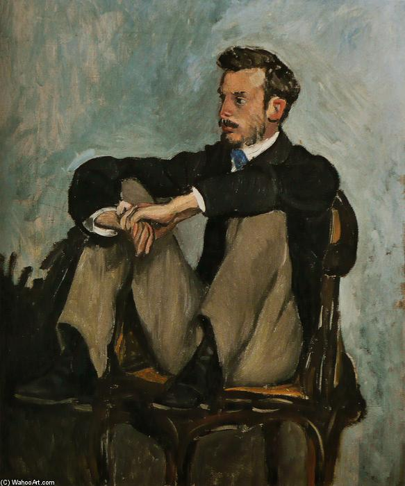 famous painting Portrait of Auguste Renoir of Jean Frederic Bazille