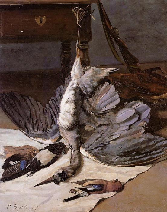 famous painting The Heron of Jean Frederic Bazille