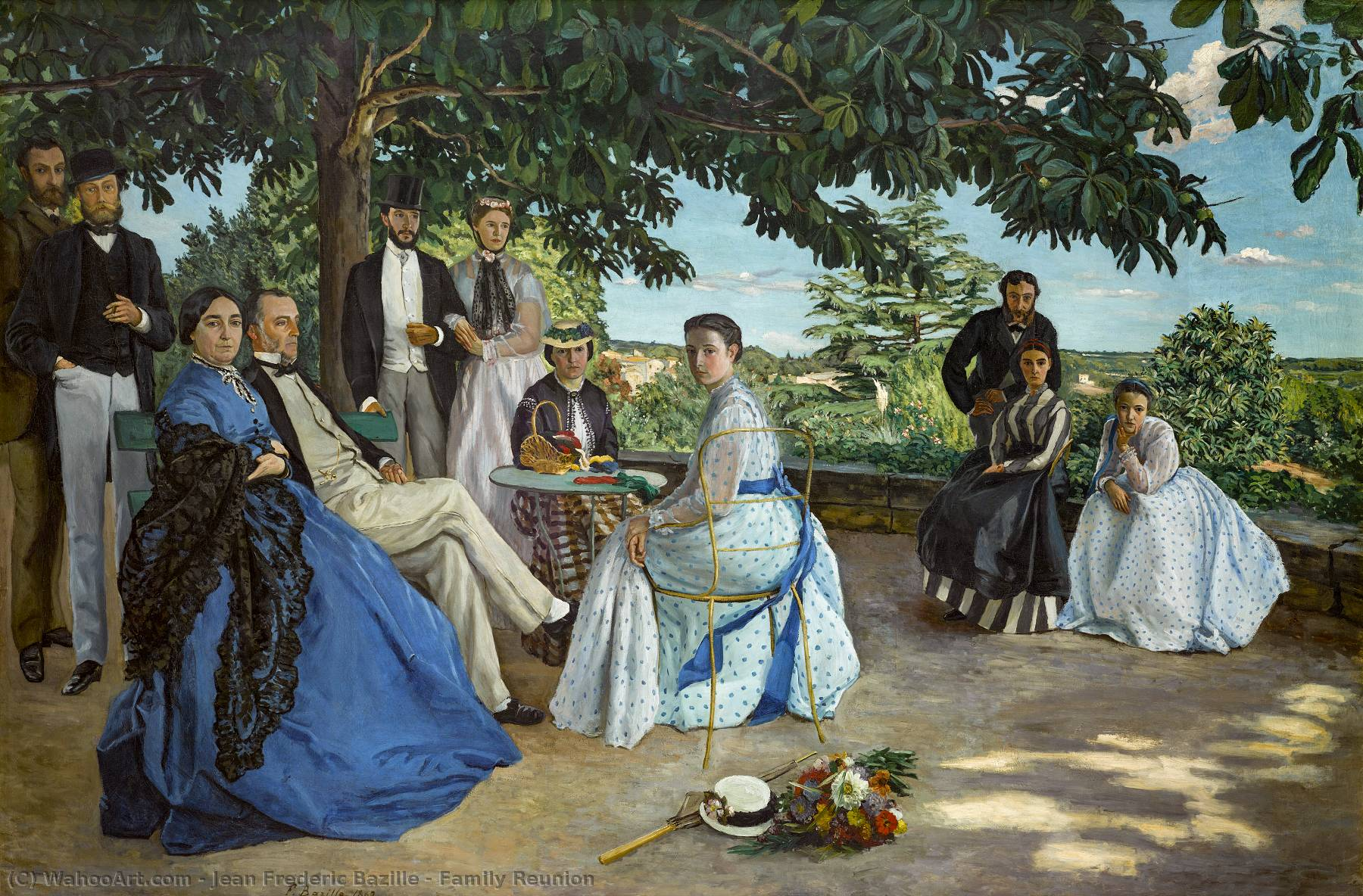 famous painting Family Reunion of Jean Frederic Bazille