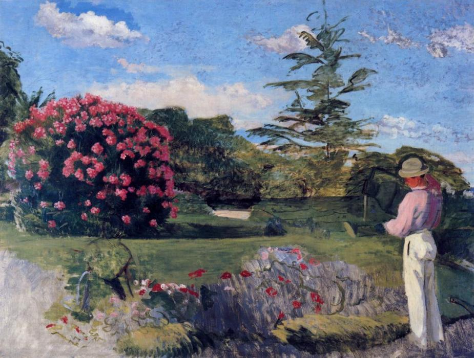 famous painting The Little Gardener of Jean Frederic Bazille