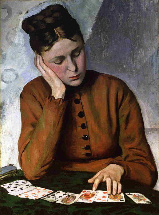 famous painting The Fortune Teller of Jean Frederic Bazille