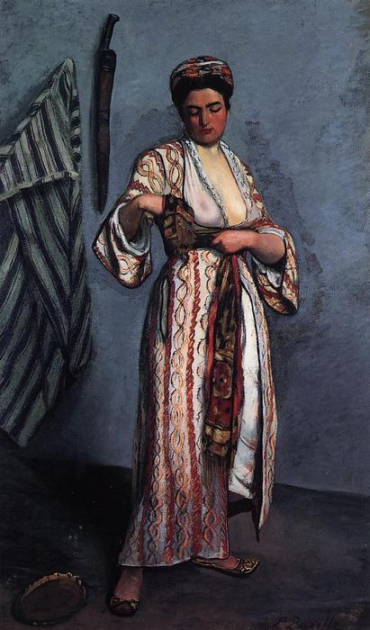famous painting Woman in Moorish Costume of Jean Frederic Bazille