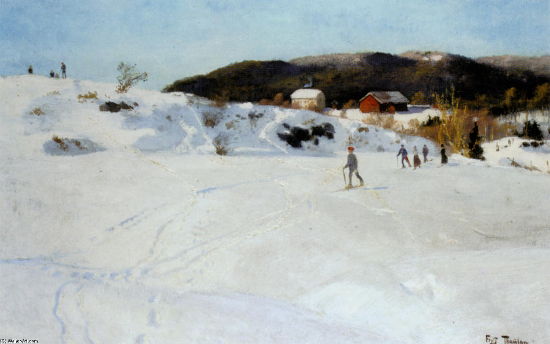 famous painting Skiers of Frits Thaulow