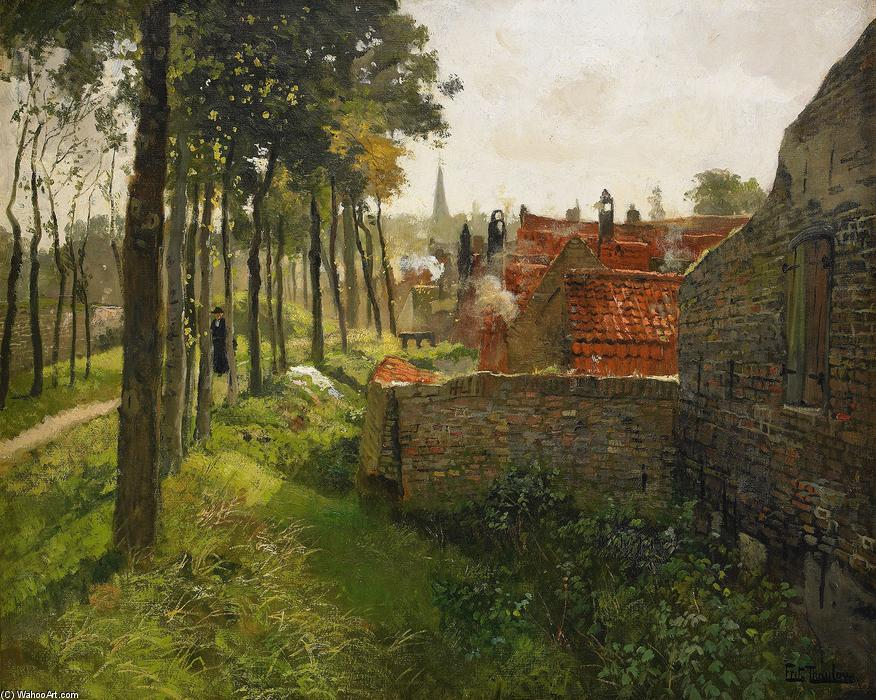 famous painting The Priest of Frits Thaulow
