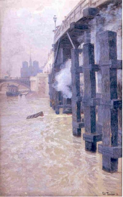 famous painting Seine of Frits Thaulow