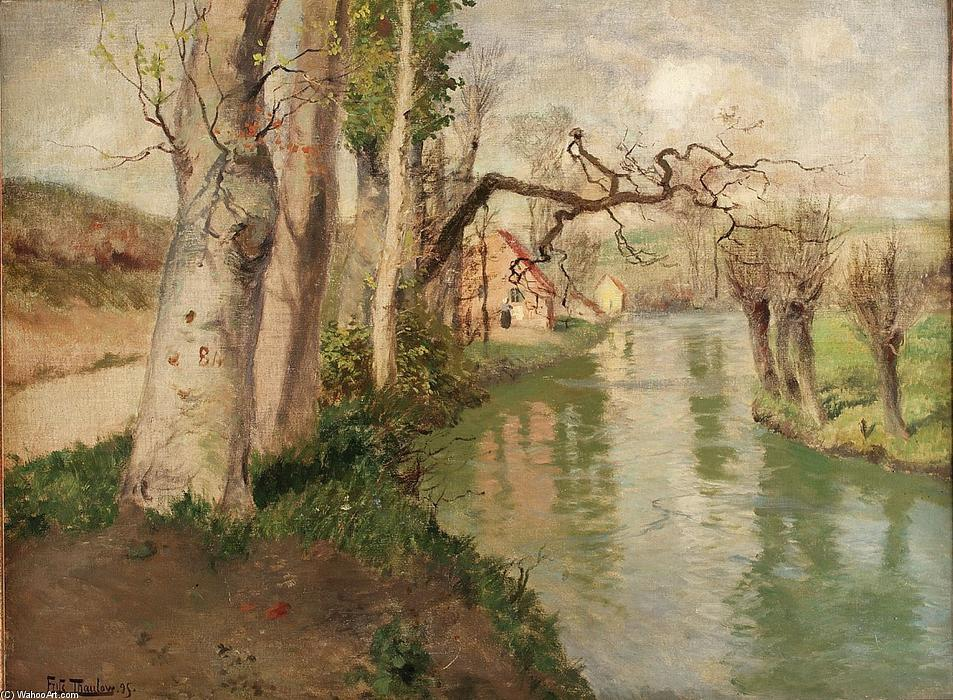 famous painting From Dieppe to Arques River of Frits Thaulow