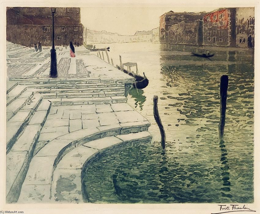 famous painting Marble Steps of Frits Thaulow