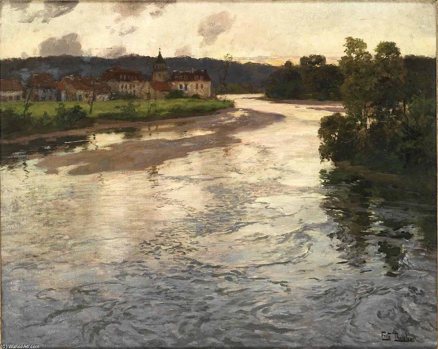 famous painting The Dordogne of Frits Thaulow