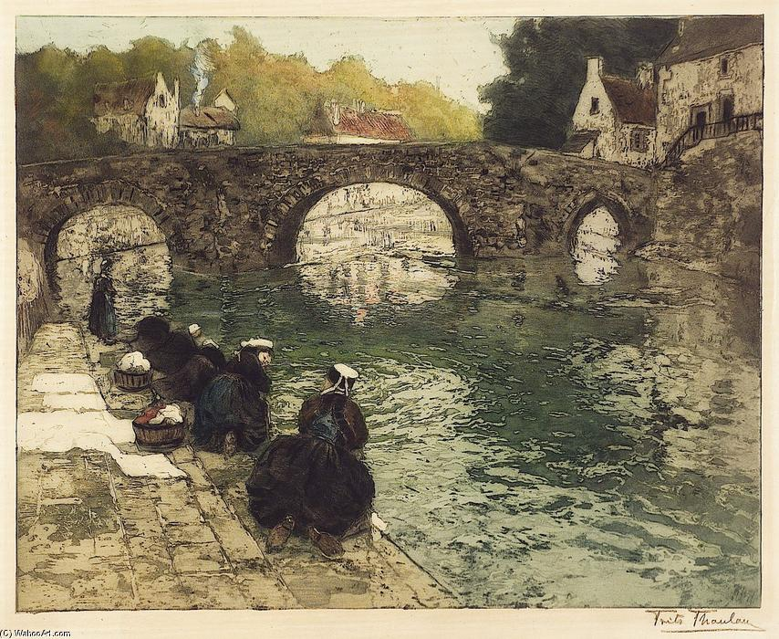 famous painting Washerwomen at Quimperle of Frits Thaulow
