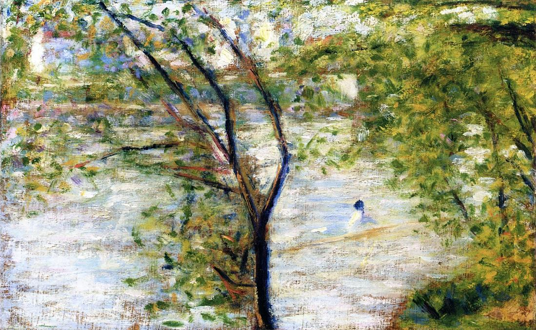 famous painting A canoes of Georges Pierre Seurat