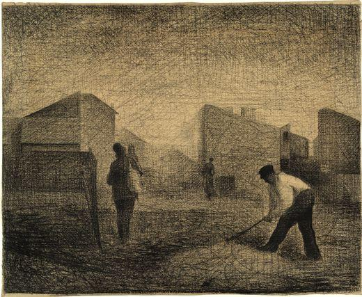 famous painting Stone breakers, Le-Raincy of Georges Pierre Seurat