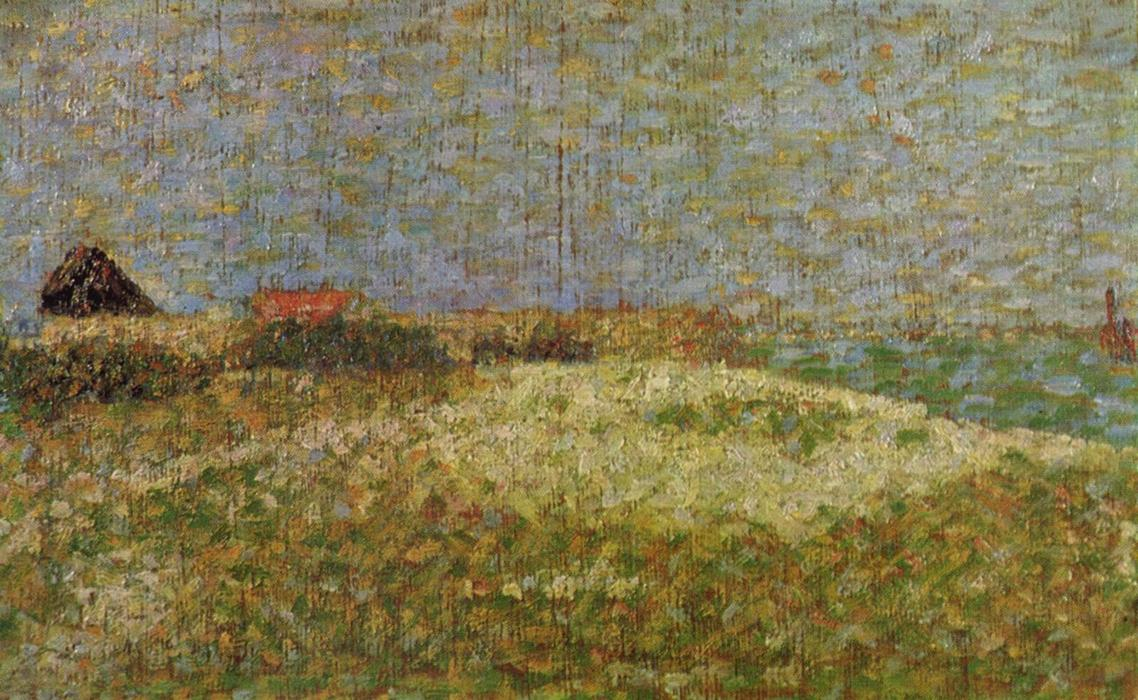 famous painting The away Samson in Grandcamp of Georges Pierre Seurat