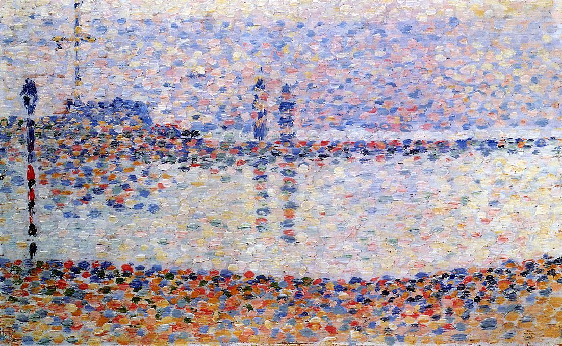 famous painting Study for 'The Channel at Gravelines, Evening' of Georges Pierre Seurat