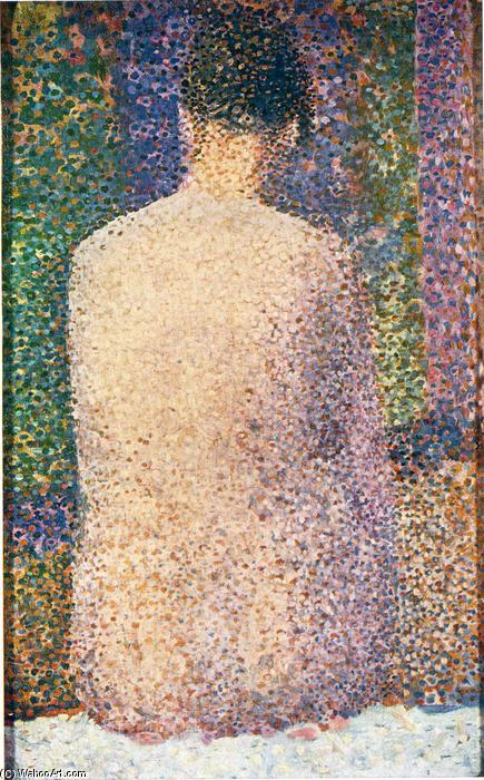 famous painting Model from the Back of Georges Pierre Seurat