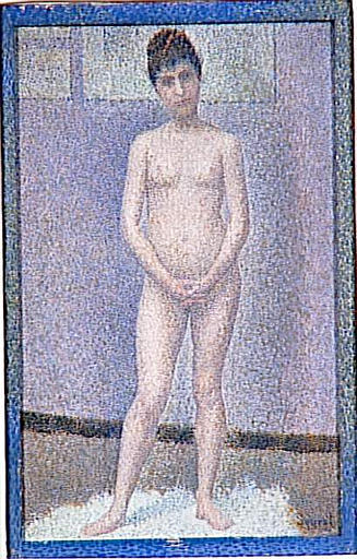 famous painting Model to front of Georges Pierre Seurat