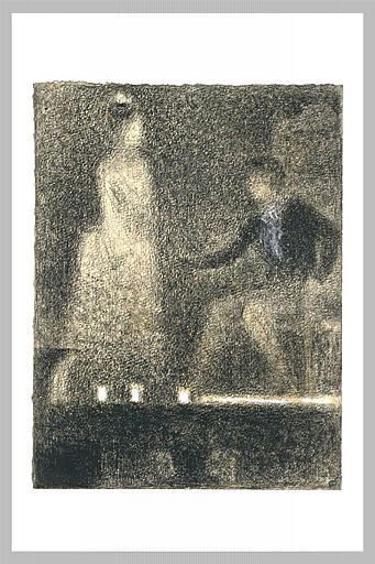 famous painting The scene in the theater of Georges Pierre Seurat