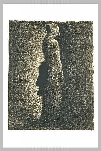 famous painting The black bow of Georges Pierre Seurat