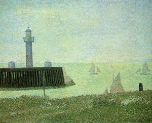 Georges Pierre Seurat - End of the Jetty, Honfleur