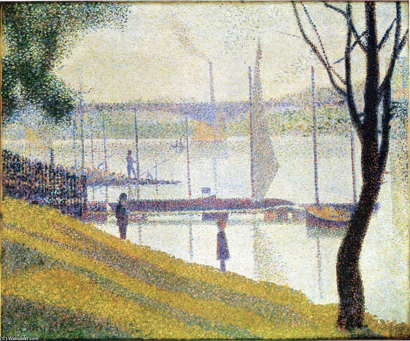 famous painting The Bridge at Courbevoie of Georges Pierre Seurat