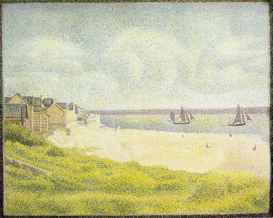 famous painting View of Crotoy, the Valley of Georges Pierre Seurat