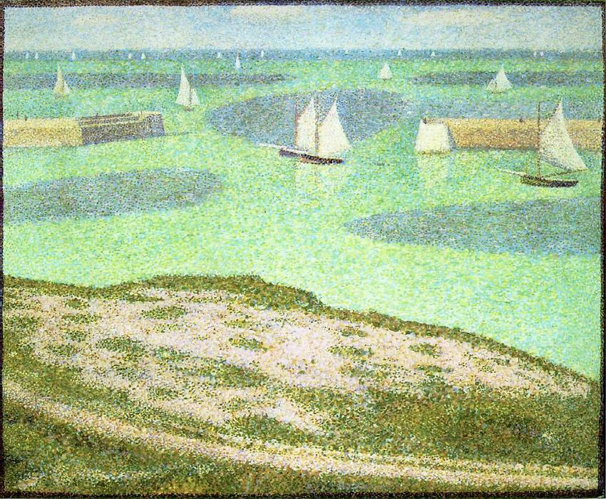 famous painting Port-en-Bessin Entrance to the Harbor of Georges Pierre Seurat