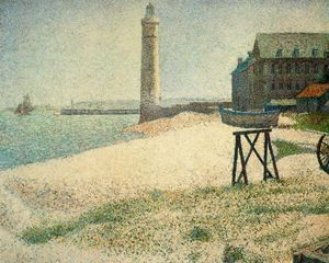 Georges Pierre Seurat - Hospice and Lighthouse, Honfleur