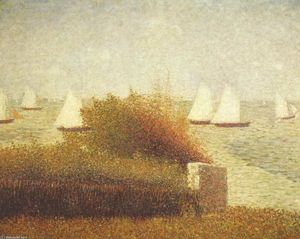 Georges Pierre Seurat - Race in Grandcamp