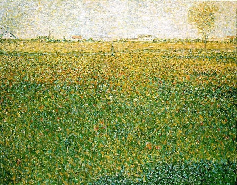 famous painting Alfalfa, St. Denis of Georges Pierre Seurat