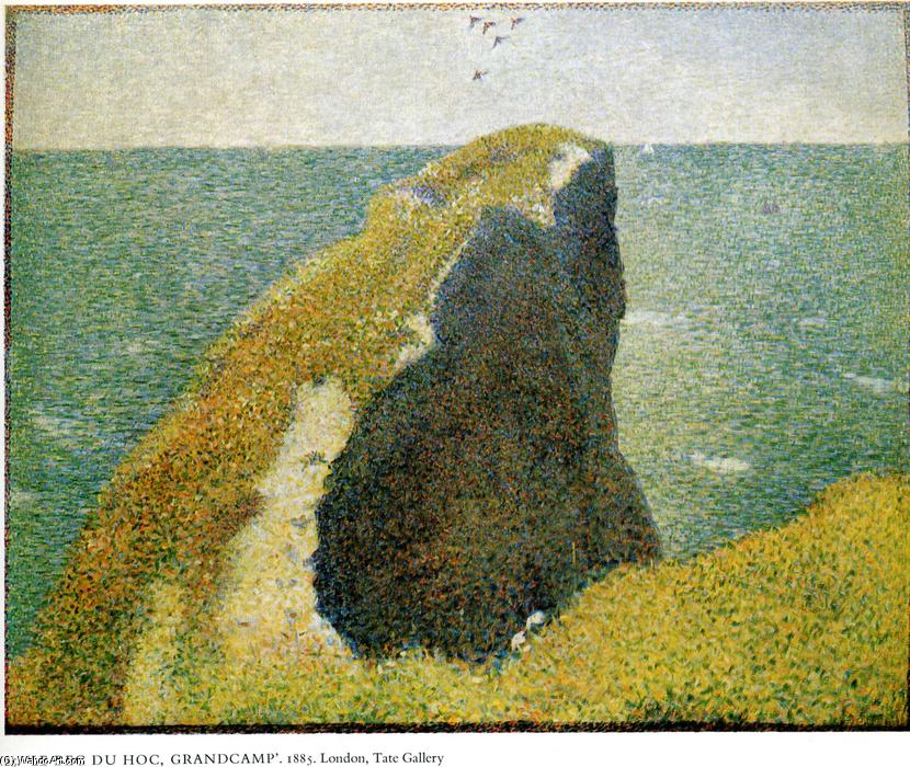 famous painting The Bec du Hoc, Grandcamp of Georges Pierre Seurat