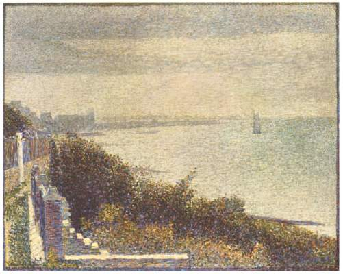 famous painting Grandcamp, Evening of Georges Pierre Seurat
