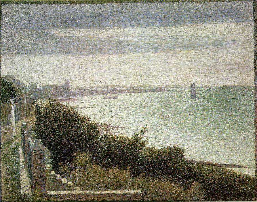 famous painting The English Channel at Grandcamp of Georges Pierre Seurat