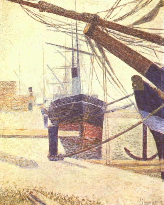 famous painting Harbor in Honfleur of Georges Pierre Seurat
