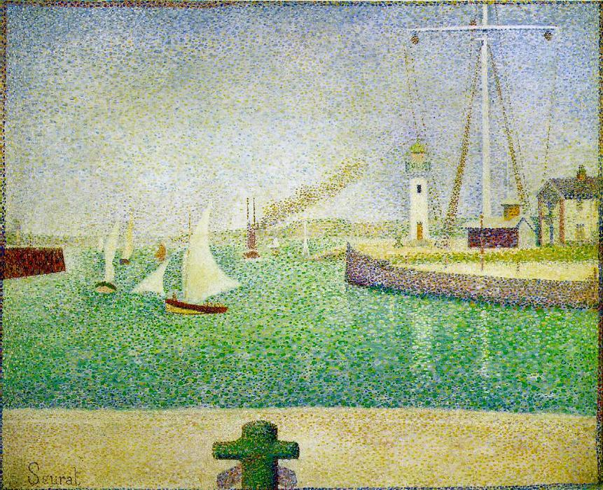 famous painting Port of Honfleur of Georges Pierre Seurat