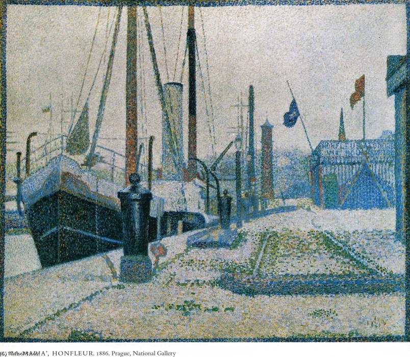 famous painting The Maria, Honfleur of Georges Pierre Seurat